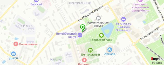 стадионы на карте Одинцово