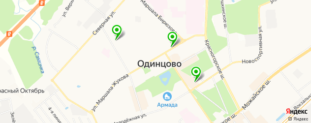 бары с танцполом на карте Одинцово