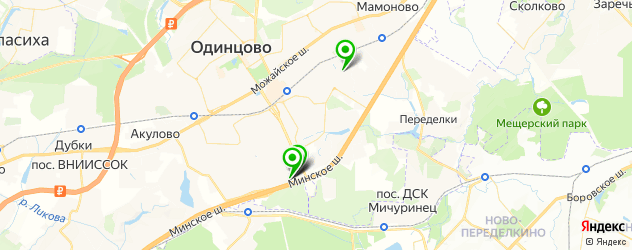 мотосалоны на карте Одинцово