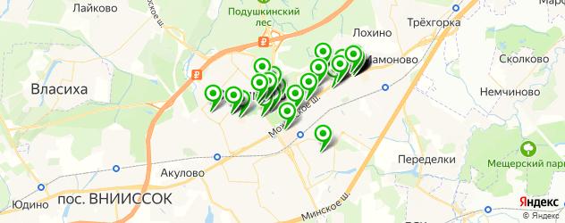Финансы на карте Одинцово