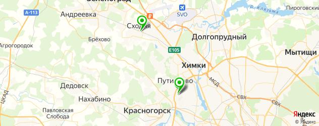 детские больницы на карте Химок