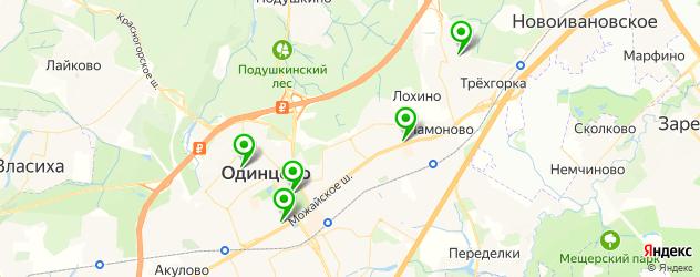 вегетарианские кафе на карте Одинцово