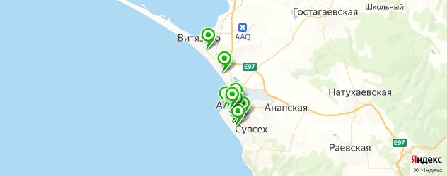 татуаж бровей на карте Анапы