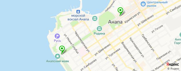 картинные галереи на карте Анапы