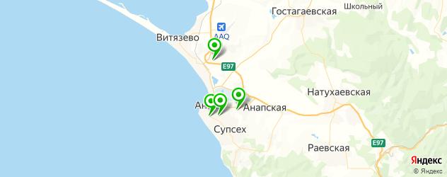 шиномонтажи на карте Анапы