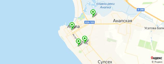 спортивные клубы на карте Анапы