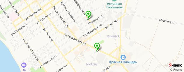 йога-центры на карте Анапы