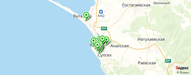 массажные салоны на карте Анапы