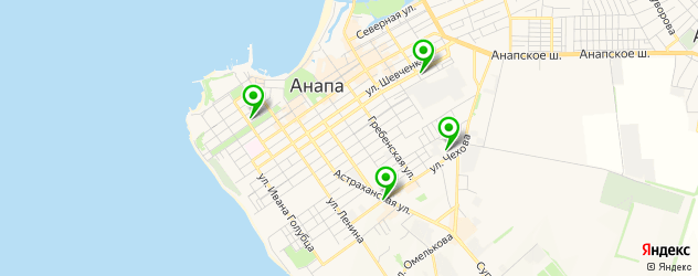 университеты на карте Анапы