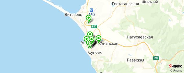 автосервисы на карте Анапы