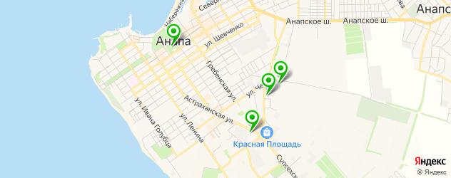 сервисы Тойота на карте Анапы