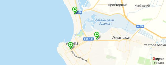 боулинги на карте Анапы