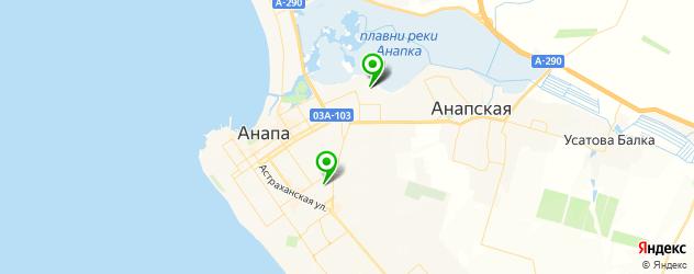 детские больницы на карте Анапы