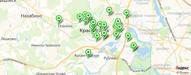 детские сады на карте Красногорска