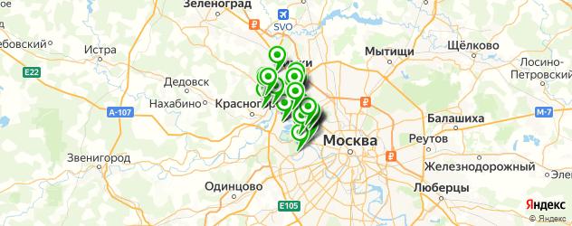 банкетные залы на карте СЗАО