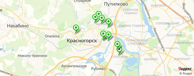 анализы ПЦР на карте Красногорска