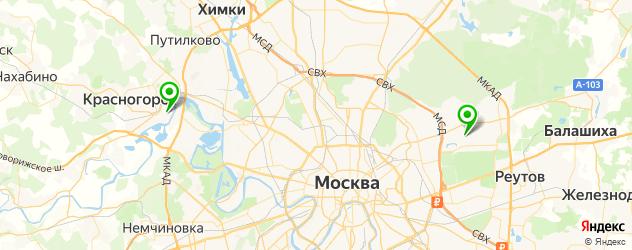 мобильные грузовые шиномонтажи на карте Москвы