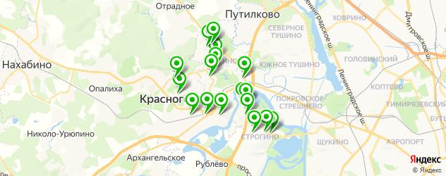 японские рестораны на карте Красногорска
