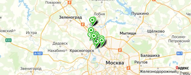 бесплатный Wi-Fi на карте Химок