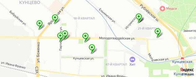 стоматология на карте Молодогвардейской улицы