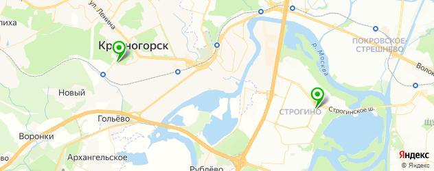 боулинги на карте Красногорска