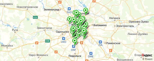 спортивные школы на карте Москвы