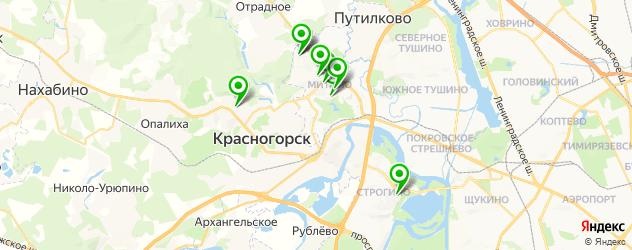 тату салон на карте Красногорска