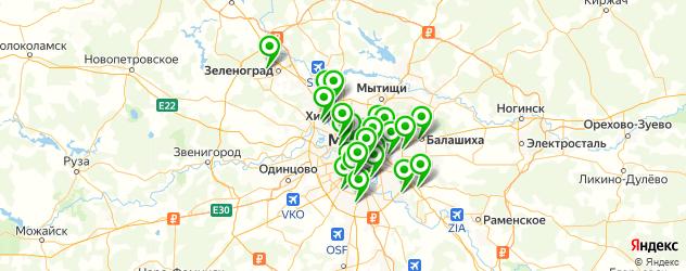 сборка мебели на карте Москвы