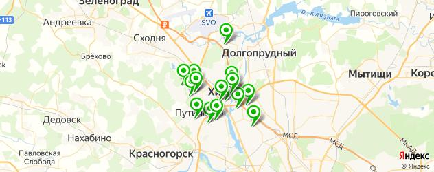 бассейны на карте Химок