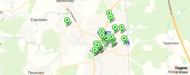 бесплатный Wi-Fi на карте Чехова