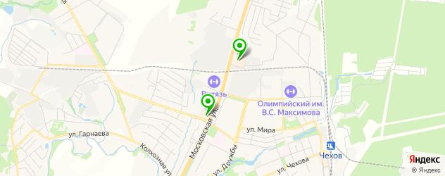 итальянские рестораны на карте Чехова