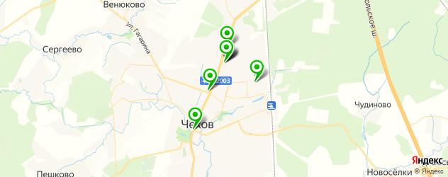службы доставки еды на карте Чехова