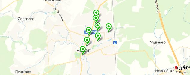 рестораны на карте Чехова