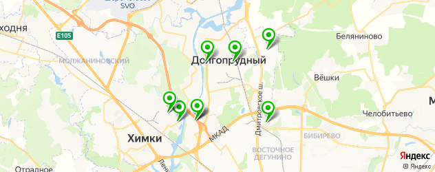 бары с живой музыкой на карте Долгопрудного
