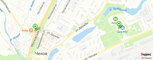 дома культуры на карте Чехова