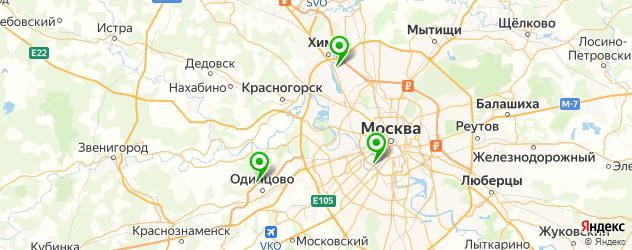 лыжные сервисы на карте Москвы