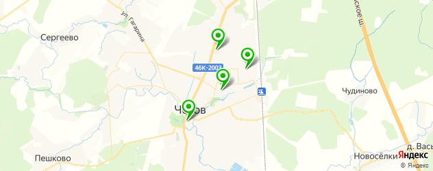 рестораны с летней верандой на карте Чехова