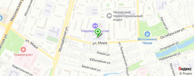 гимназии на карте Чехова