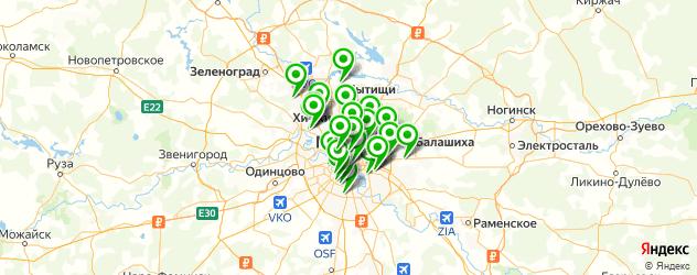 патронажные службы на карте Москвы