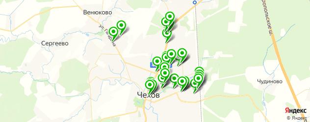 парикмахерские на карте Чехова