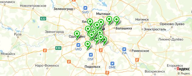 пирсинг на карте Москвы