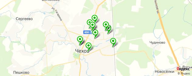Спорт и фитнес на карте Чехова