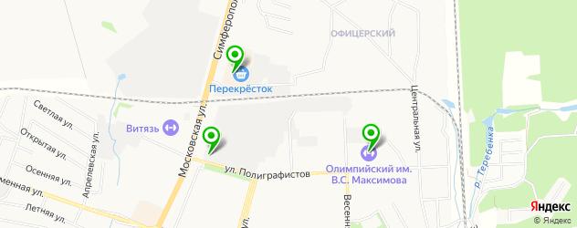 тренажерные залы на карте Чехова
