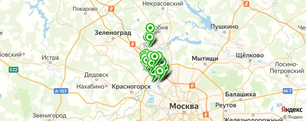 постные меню в ресторанах на карте Химок