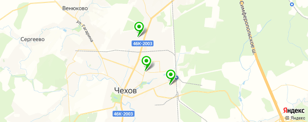 ВУЗы на карте Чехова
