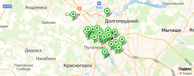детские сады на карте Химок