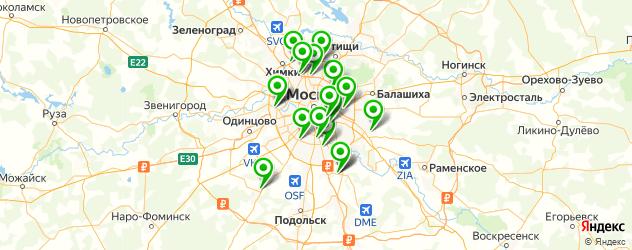 ответственное хранение автомобилей на карте Москвы