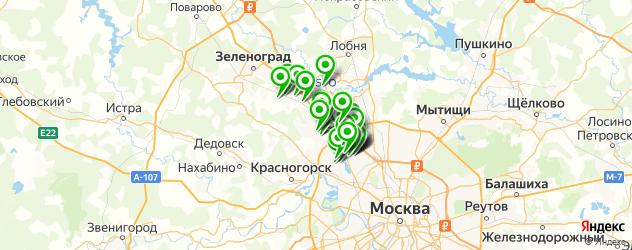 Доставка пиццы на карте Химок