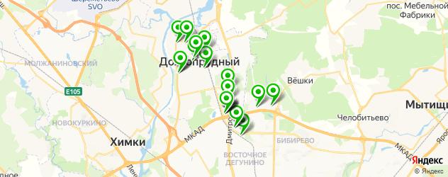 салоны оптики на карте Долгопрудного