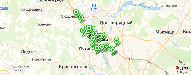 школы танцев на карте Химок